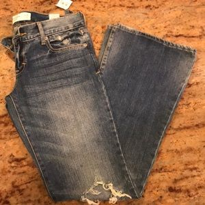 Abercrombie & Fitch jeans with holes and frayed.